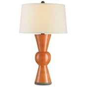 Currey and Company Upbeat Table Lamp, Orange 6351