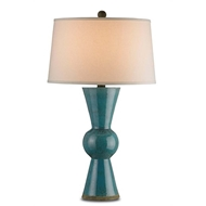 Currey & Company Lighting Upbeat Table Lamp, Teal