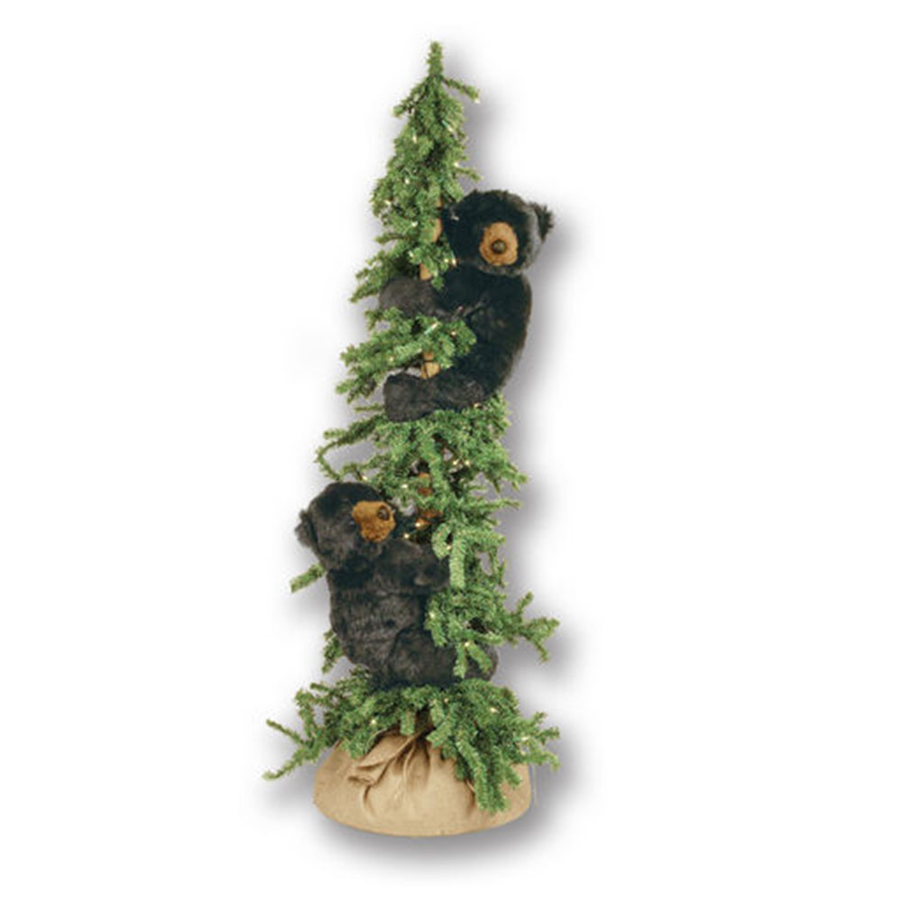 Ditz Designs Lighted Alpine Tree Bear 70147 | Black Bear Christmas Tree
