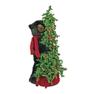 "Ditz Designs Berry Christmas Tree Bear 40"" - Black Bear  Ditz Designs by Hen House"