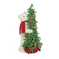 "Ditz Designs Berry Christmas Tree Bear 40"" - Polar Bear Ditz Designs by Hen House"