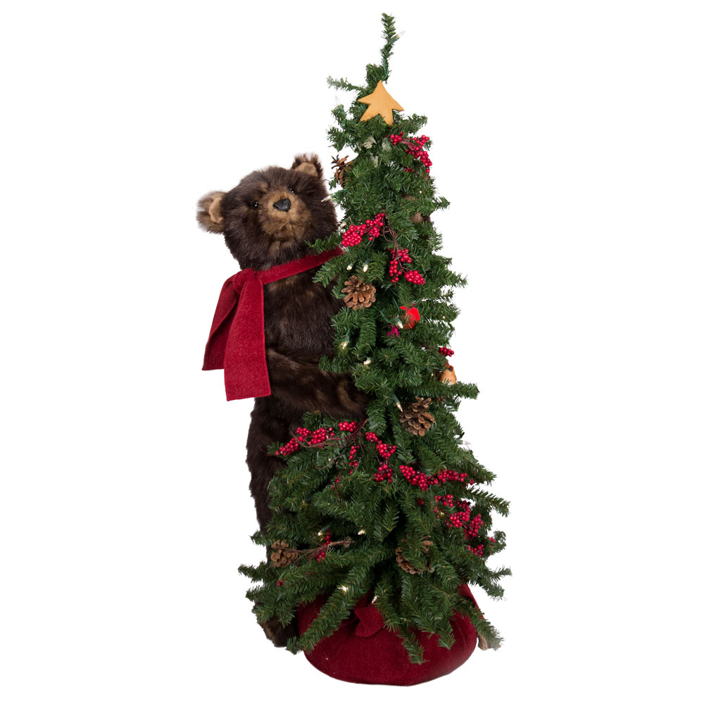 christmas tree bear grizzly 40 in - Bear Christmas Tree