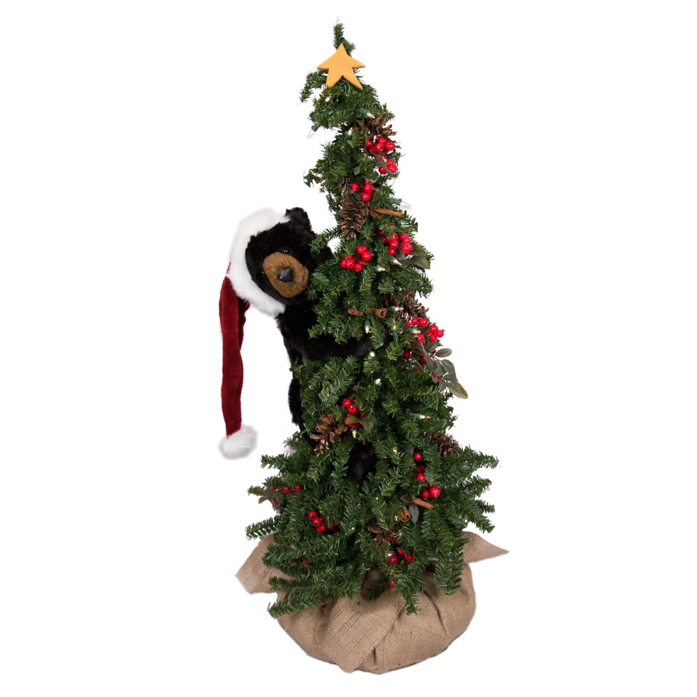 Ditz Designs Climbing Christmas Tree Bear 70124 | Black Bear
