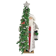 Ditz Designs North Star Christmas Life Size Santa With Tree 11629