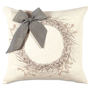 Eastern Accents Wintry Wreath Pillow