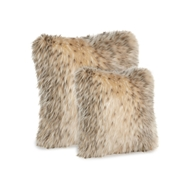Fabulous Furs Arctic Leopard Faux Fur Pillows - 18 and 21 inch pillows