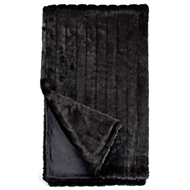 Fabulous Furs Black Mink Faux Fur Throw Signature Collection donna salyers fabulous furs