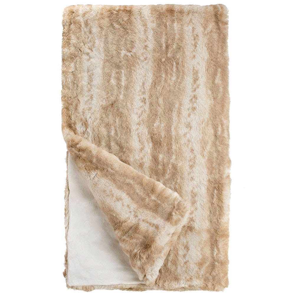 Blonde Mink Couture Faux Fur Throw Blanket Throws