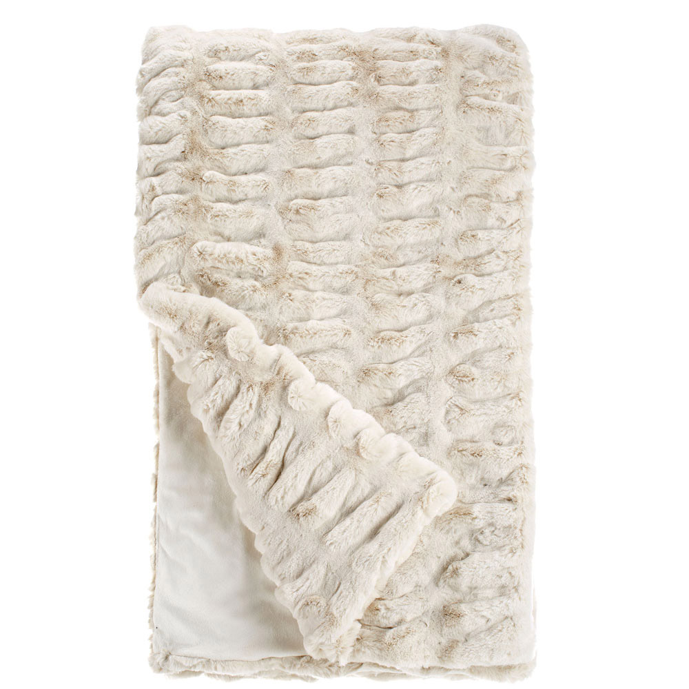 Fabulous Furs Ivory Mink Faux Fur Throw Couture Collection - 10-11014-IVO