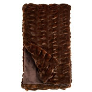 Fabulous Furs Mahogany Mink Faux Fur Throw Couture Collection