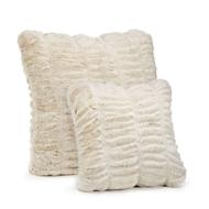 Ivory Mint Faux Fur Pillow