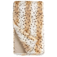 Fabulous-Furs Snow Leopard Faux Fur Throw Limited Edition donna salyers fabulous furs