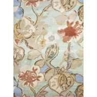 Jaipur Petal Pusher Rug from Blue Collection - Celadon
