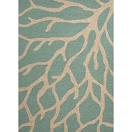 Jaipur Coral Rug from Coastal Living Collection - Teal