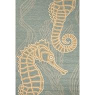 Jaipur Sea Horsing Around Rug from Coastal-Lagoon Collection