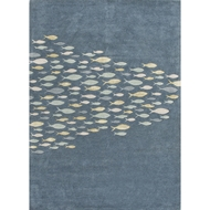 Jaipur Schooled Rug from Coastal Living Collection - Captain's Blue
