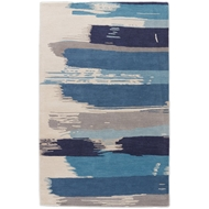 Jaipur Painterly Rug from En Casa By Luli Sanchez Tufted Collection - Bonnie Blue