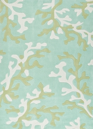 Jaipur Coral Fixation Rug from Fusion Collection - Birds Egg Green