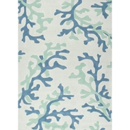 Jaipur Coral Fixation Rug from Fusion Collection - Snow White