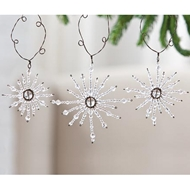 Jeremie Corp Jeweled Snowflake Ornament, Set of 3
