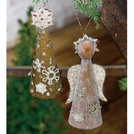 Jeremie Corp Woodland Winter Angel Ornament