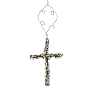 Jeremie Corp Cross Pearl Wire Ornament 86600