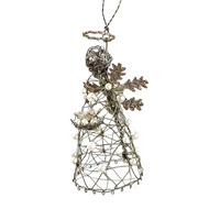 Jeremie Corp Snowflake Angel Wire Ornament 86540
