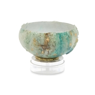 John-Richard Cream and Turquoise Bowl JRA-11063