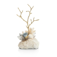 John-Richard Crystal Agate and Brass Twig JRA-10753