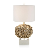 "John-Richard 24.25"" Layered Organic Brass Lamp JRL-9980"