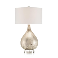 "John-Richard 34.5"" Lamp in Weathered Silver Finish JRL-9978"