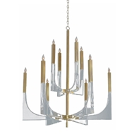 John-Richard Acrylic and Brass 10 Light Chandelier AJC-9040