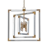 John-Richard Acrylic and Brass 8 Light Chandelier AJC-9044