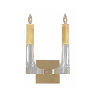 John-Richard Acrylic and Brass Double Light Sconce AJC-9038