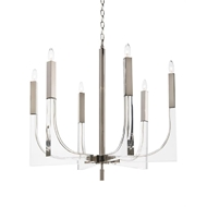 John-Richard Acrylic Nickel 6 Light Chandelier AJC-9117