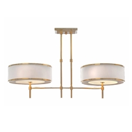 John-Richard Brass Banded Two Light Chandelier AJC-8906