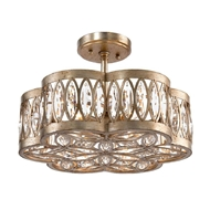 John-Richard Diamante Six Light Semi-Flush Chandelier AJC-8792