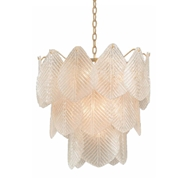 John-Richard Frosted Glass Petal Tiered Chandelier AJC-9094