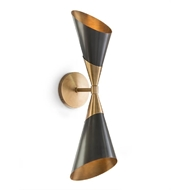 John-Richard Mid-Century Two Light Wall Sconce AJC-8974