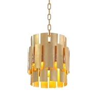 John-Richard Panes of Gold Leaf Metal Pendant AJC-9056