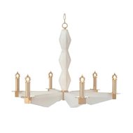 John-Richard Sculptural Alabaster and Brass Chandelier AJC-8955