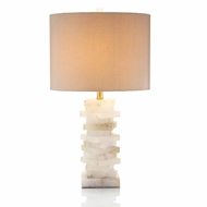 "John-Richard 30.5"" Alabaster Block Table Lamp  JRL-8443"
