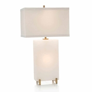 John-Richard Alabaster Block Table Lamp JRL-9196