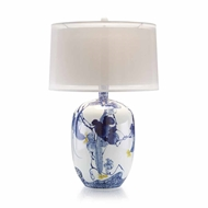John-Richard Blue Asian Gardens Table Lamp JRL-8854