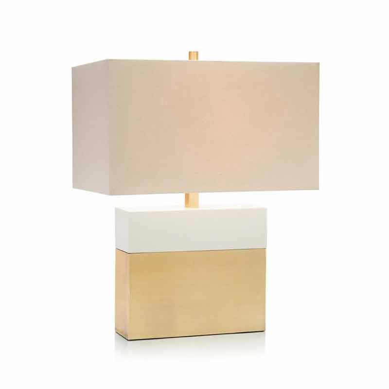 John-Richard Column Table Lamp Cream/Gold JRL-9598