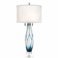John-Richard Etched Glass Geometric Table Lamp JRL-9443