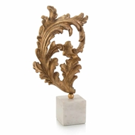 John-Richard Gold Baroque Leaf on Marble LG