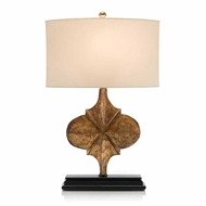 John-Richard Hand Carved Gold Star Table Lamp JRL-9147