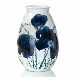 John-Richard Oxblood Blue/White Porcelain Vase JRA-9755