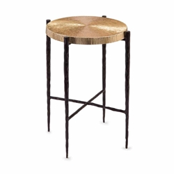 John-Richard Oxidized Black/Gold Accent Table JRA-10139